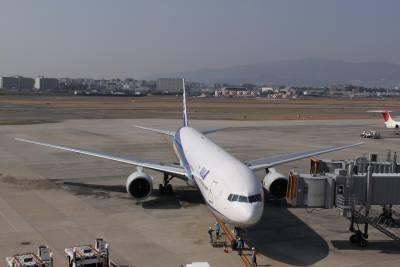 石垣島へは伊丹空港から出発。<br />伊丹空港の団体カウンターでチェックイン。トラピックスのバッジを胸に貼り付け出発です。<br />機材ははじめてのB777。<br />これで那覇までまず向かいます。