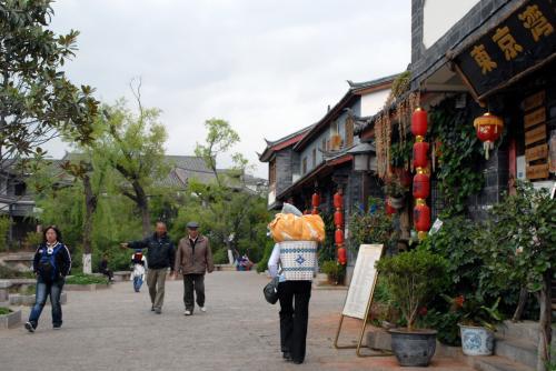 古鎮口から玉龍橋を越え、そこかた水路沿いを北上します。<br /><br />レストラン東京湾や、何度か食事に出かけた一品羊などの前を通り過ぎ、、、