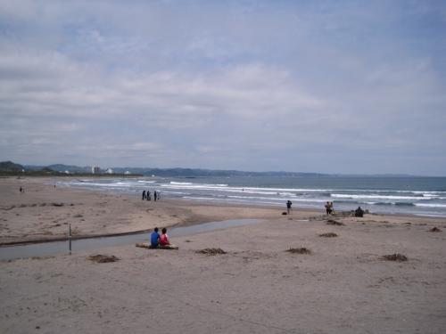 南千倉の海岸です。<br /><br />サーフィンの大会が行われていました。<br /><br />ここの海岸前にある『サウンドスウェルカフェ』。<br /><br />その外の席で、のんびりコーヒータイム。
