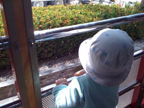 息子は電車や飛行機と同様、バスも好きだ。