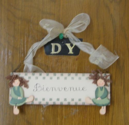 かわいらしいドア飾り<br /><br />そして表紙のようなお出迎えとなったのでした。<br /><br />ほっ。