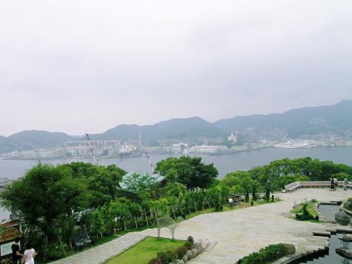 グラバー邸散策 その5  ここから長崎湾が一望できます