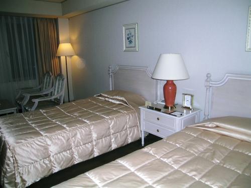 これは歴史的な部屋の展示ではありません。宿泊したホテルの部屋でした。<br />写真の説明文を書きながら、最初は誰の部屋であったか?と考えてしまいました(笑)