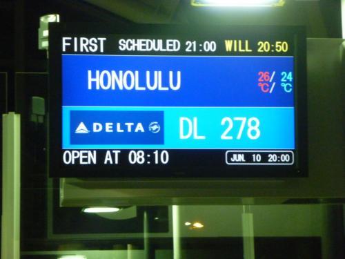 関空からはデルタ航空、成田からは全日空でいよいよ出発します。はじめて参加される方はわくわくドキドキ・・・・。