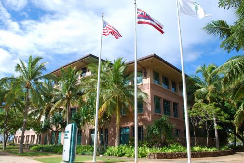 ハワイ大学医学部校舎です。