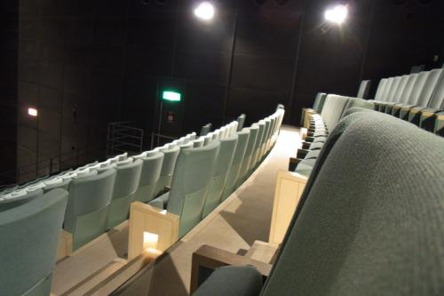 3Dシアター座席<br />目の前に巨大スクリーン<br />勾配は急