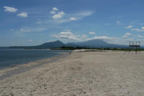 海岸から大山も見えます。