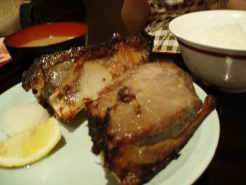 有楽町は築地が近いこともあり、お寿司やマグロ料理の店がたくさんあります。<br />昼食はガード下のお店で「マグロ丼」と「マグロのカマ焼き定食」を頼みました。写真は定食。