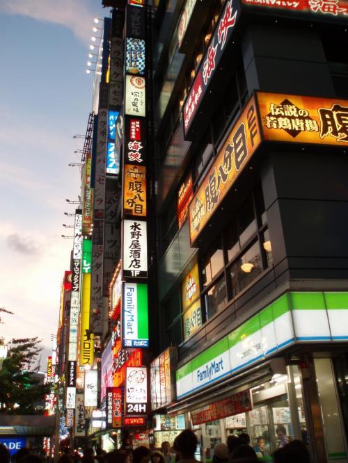 新宿の飲み屋街。<br />今夜は居酒屋のハシゴだな〜。