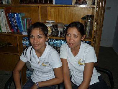宿泊していたパラガヨ リゾートの Leima と Emely。