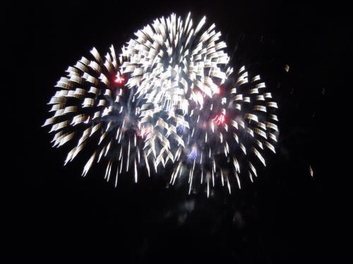 夕方には親戚の一家族の皆さんが毎年集って祝っていると言うアラモアナ・ビーチ・パークでのポット・ラックパーティに参加する。アラモアナ公園には恐らく何千人かの人が集まり、July 4thの建国記念日を祝って各家族や友人達で思い思いの屋外ディナー・パーティーなのである。バーべキユーの匂いも漂う広い公園で花火の打ち上げを待つ。時間が来て大きな音を伴った一発の花火を皮切りに、連続して大小、色々な花模様を描く花火のオン・パレードです!8:30から8:50まで連続で大きな音と夜空に描く模様で会場をどよめかした花火はきっちり20分で終わりです!このあたりの様子は動画が楽しいかと YOU TUBE に上げているので、興味ある人はお手すきの折り、以下をクリック訪問ください。<br />( http://www.youtube.com/watch?v=Y4n58WgP61g )<br />