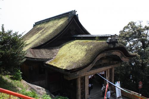 国宝の唐門(手前)観音堂へ向かいます。<br />唐門の牡丹や尾長鳥の彫刻がとても細かく施されいます。<br /><br />
