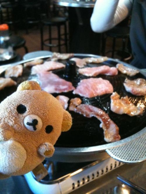 ソウルナビの紹介記事はこちら。<br />http://www.seoulnavi.com/food/430/<br /><br />リラなめのお肉を撮っていたら<br />「なんでくまを入れるの?オニクだけ撮ればいいのに〜www」と<br />日本語堪能なおかみさんが笑っておりました。<br /><br />おいしいよ〜おいしいよ〜