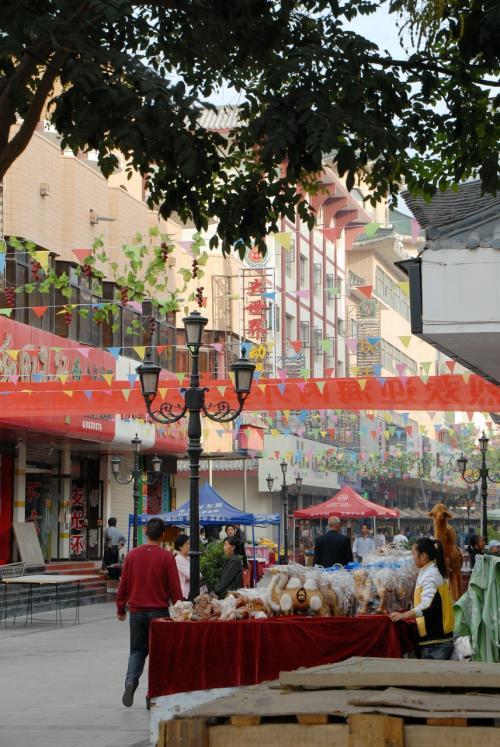 朝の一条街は、商店街の顔をしてません。