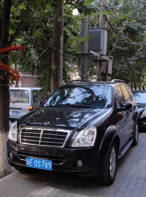 昨日はろくなものも食べないで終わっちゃいましたが、今日は如何相成りますか。<br /><br />朝食に出かけようとした時、ホテルの前に、見たことのない車が停まっていました。<br />ベンツの目(ヘッドライト)に似ているので、またまた中国お得意の・・・?とも思って後を見てみると、、、