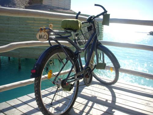 各お部屋には自転車が置いてあります。<br />ペダルに布が巻いてあって良心的です。<br />レストランや、スパなど行くのに活躍しました。<br /><br />ただサドルの位置が高いのです。<br />またハンドルも下の方を持たないとブレーキを握れず危険です。<br />私は転びました(><)=
