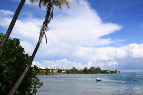 モーレア島のチキビレッジでみる風景
