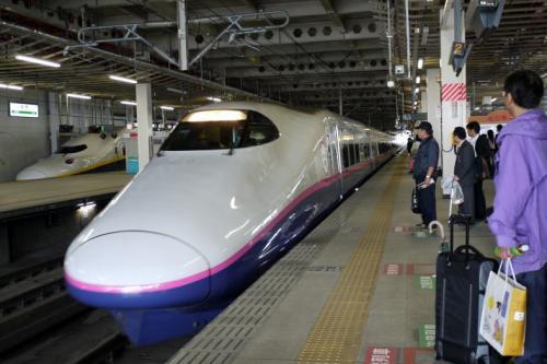 仙台から東北新幹線 やまびこ に乗ります