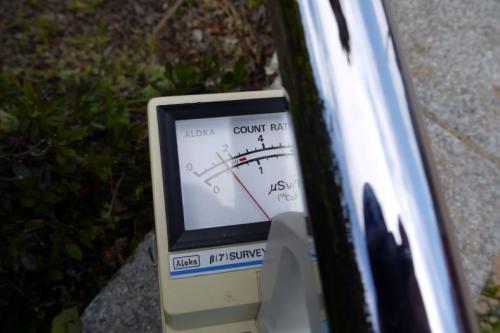 100CPSノッチでこのような値を示しています<br /><br />※検出器のキャップを外して測定しています