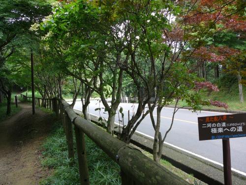 奥比叡ドライブウェイの横を歩きます。<br />極楽への道〜えっここを行くと極楽って、どんなところでしょう。。。