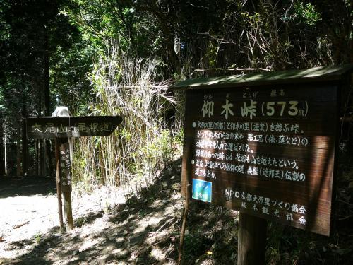 大分下りてきました。ここは標高573m、仰木峠です。<br />京都大原の里と滋賀仰木の里を結ぶ峠だそうです。<br />ここでお昼にします。おにぎりがおいしい♪♪