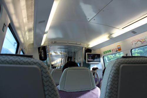 名残り惜しいけど、お腹も減ってきたので、撮影を切り上げて街に出ることにしました。<br /><br />Airport Expressを使えばセントラルまで20分弱です。それに日帰りの往復乗車券なら100香港ドルで済みますからね。<br /><br />列車の中は冷房が効いていて天国のようでした。