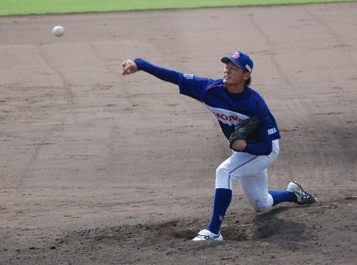 Honda鈴鹿の前橋投手。<br />球が速いね。<br /><br />