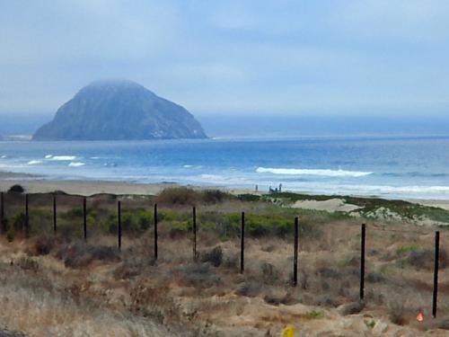 さらに1号線を下ると「San Luis Obisupo」(サンルイスオビスポ)の手前の海岸に大きなお椀を伏せたような岩山が見えてきます。