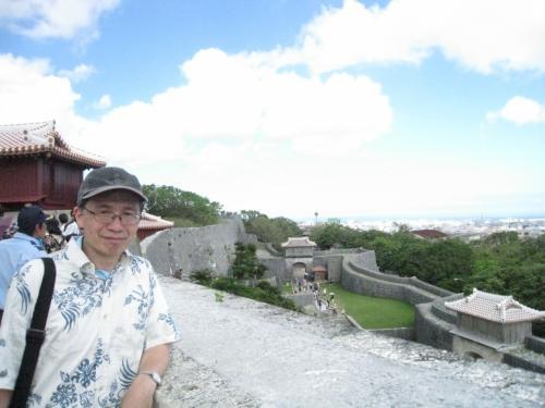 首里城からの眺めです。