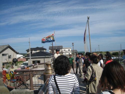 9月24日は朝から富来開運ロード散策です。出発点は富来港にあるとみく開運橋。地元の方々の町おこしにかける意気込みが橋から伝わってきます。