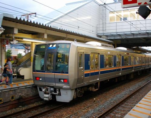 JR西日本さんの電車で、吹田〜大阪〜大正に向かいます。<br />