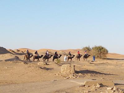 さらに奥地を目指す欧米人グループ。人の住んでいないようなところまで行って、砂漠の真ん中でキャンプをはることもできるのです。ゆっくり時間が取れれば、ぜひとも奥まで行ってみたいですね。