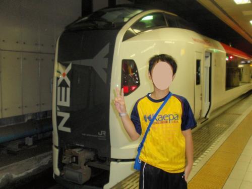 いつものようにNEXで成田まで。。。