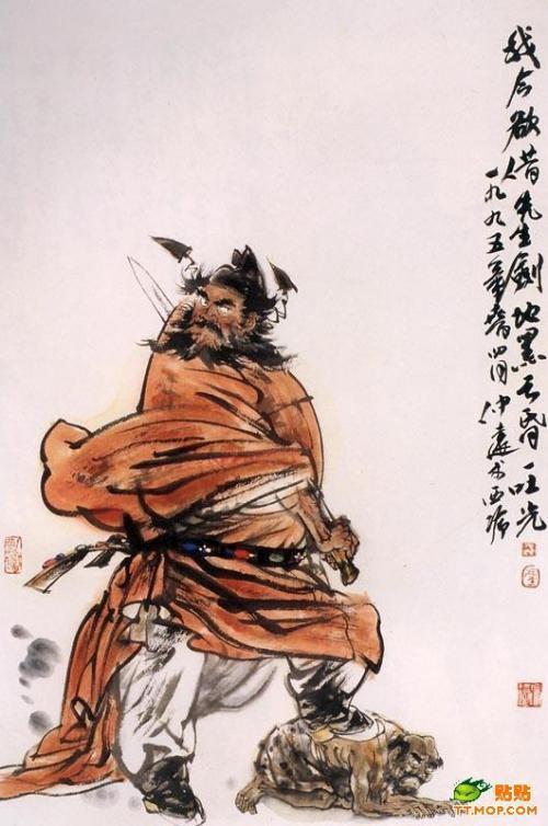 2月16日。<br /><br />機能の鍾馗像撮影で、鍾馗さんのことを何か紹介しておきたくなり、この鬼の様なオヤジがどのような生い立ちだったのか紹介してみたくなりました。<br /><br />実は、中国へ行き始めて直ぐに興味を持った事で、書物を色々読みあさったのですが、生まれた時から「鍾馗」として歩み出すまでの事を、「鍾馗神話」として詳しく書いている本が有りましたので、ちょっと綴ってみたいと思います。<br /><br /><br />こまが「鍾馗」に興味を持ったきっかけは、こまが1993年に中国へ渡り、最初に出会った木彫りの像です。<br />四川省の老職人が彫ったと言うものでしたが、何故か仕事場のサービスセンター真向かいにあった景徳鎮食器売り場に陳列されていたと言う不思議な巡り合わせでした。その25cm弱の木像を手にした時から、鍾馗さんが妙に気になり始めたのでした(阪神淡路震災では、あの大地震から33インチテレビを守った・・・と思ってたり)。<br /><br />中国語を覚え始めの頃、広州文徳路にある工芸美術センターで、画家爺ぃさんの資料書物の買い出しに付いて行った時、1995年初頭出版の「周濯街著・中国神話系列之一〜鬼中豪傑−鍾馗〜」と言う本を偶然見つけて、無謀にも買ってしまいました。<br /><br />買った当時は判らない所だらけでしたが、それでも判る部分を繋げては少し理解し、時間が経った頃に又見返して、更に内容の理解を増やして行きました。