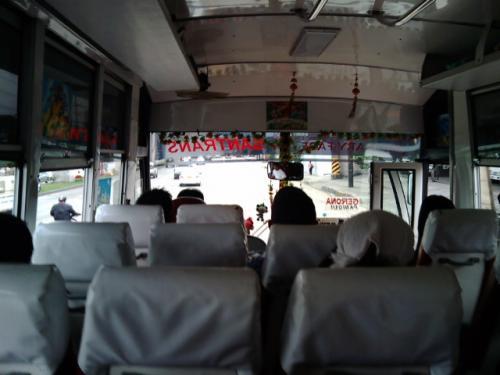 SM Northからノンエアコンのバスに乗ってダウまで98ペソ。