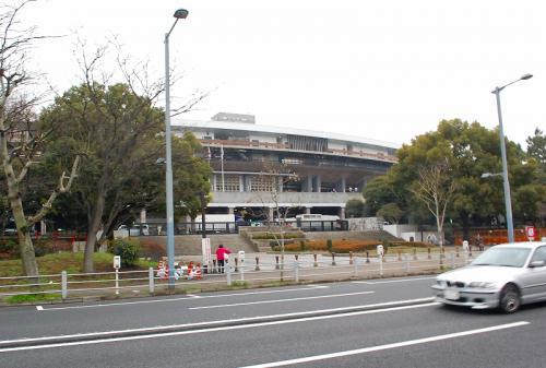 国立競技場では、ラグビー日本選手権の決勝をやっていました。
