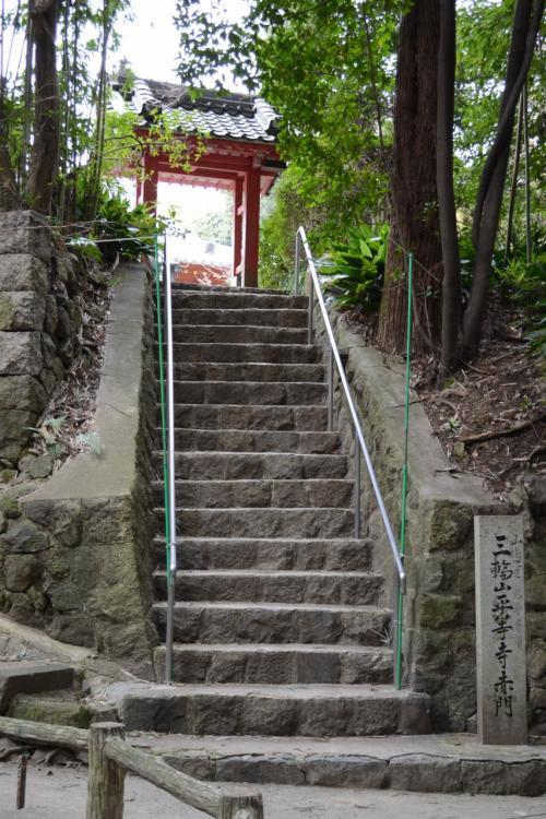 平等寺への階段<br />さぁ、今年もニャンコたちに会えるかな?<br />(って、表紙にきっちり載せているのに〜)