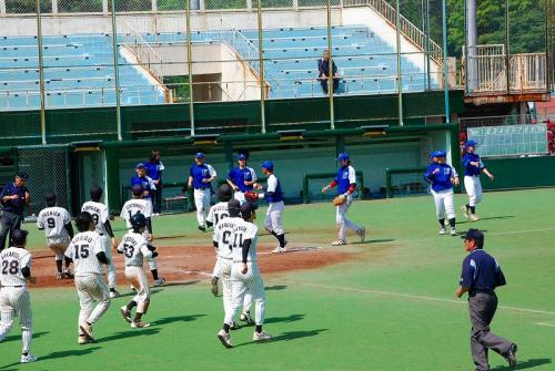 試合は、横浜ベイブルースが勝ち。<br /><br />都市対抗に向けて、がんばれ。<br />