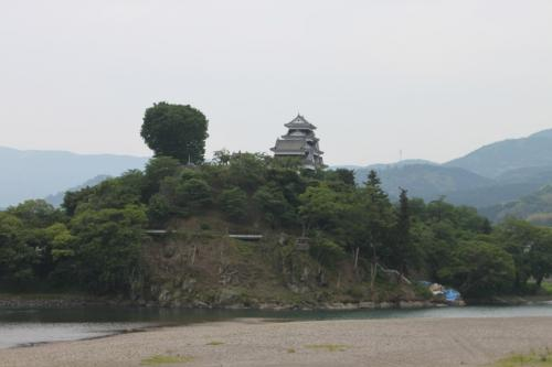 肱川橋から見た大洲城