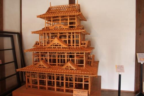 入口にあった大洲城の模型