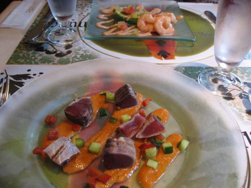 「ブラッスリー ラ・ムジカ」<br />前菜:初カツオをガスパチョのマリアージュ