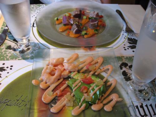 「ブラッスリー ラ・ムジカ」<br />前菜:小海老とアボガドのカクテル