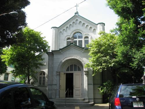 「目白聖公会」<br />昭和4年に建てられたロマネスク様式の聖堂。戦火を免れた東京の聖公教会の中で唯一戦前からの建物とのこと。