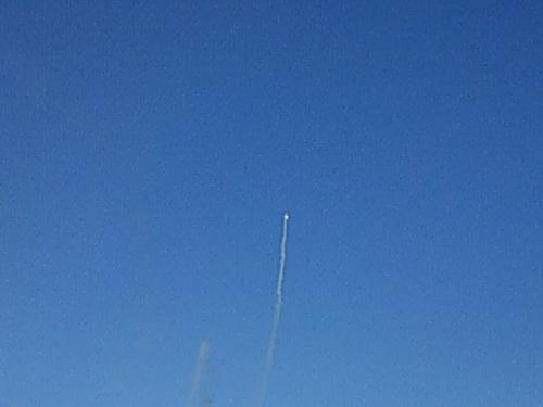 航空ショーをやっていました!<br />急上昇!
