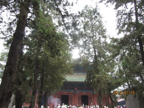 527年 禅宗の開祖 達摩和尚がここで禅宗を開いたそうです。