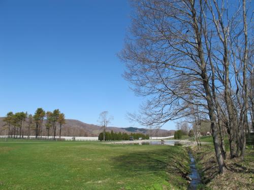 おー、広い。<br />広すぎる。<br /><br />青い空も美しいが、手入れされた芝も美しい〜。