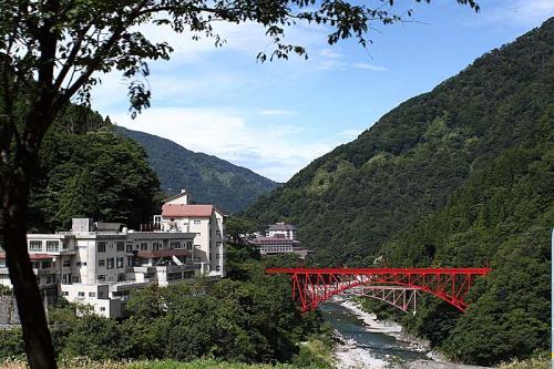 更に先に進むとさっき渡った新山彦橋が見えてくる。