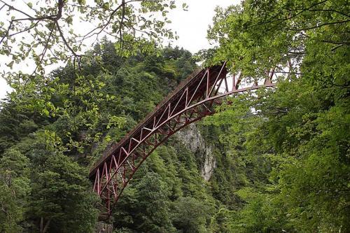 足湯から見た奥鐘橋