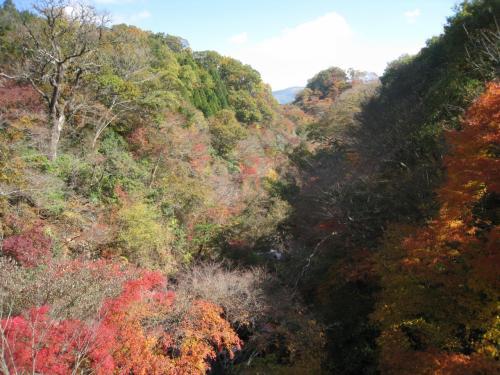 九重のあまがたに渓谷です。