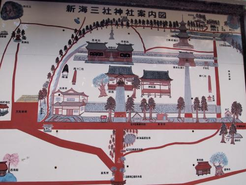 〔 新海三社神社 〕<br /><br />次に訪れたのが、龍岡城五稜郭のほど近くに鎮座する「新海三社神社」です。<br />こちらの神社は、佐久三庄三十六郷の総社で、昔から武将をはじめ人々の崇敬あつく、かの武田信玄公も戦勝祈願の文を奉ったそうです。